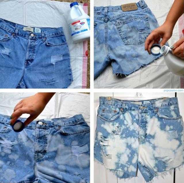 Как отбелить джинсы белизной: в домашних условиях, без кипячения, как сделать рисунок