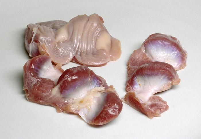 как почистить желудки куриные