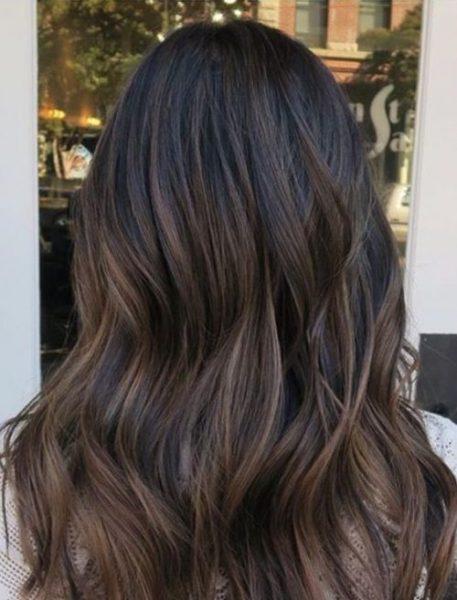 как подобрать цвет волос брюнет мелирование
