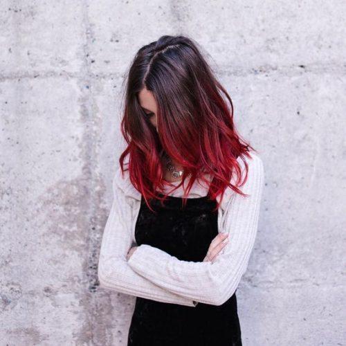 как подобрать цвет волос красное омбре