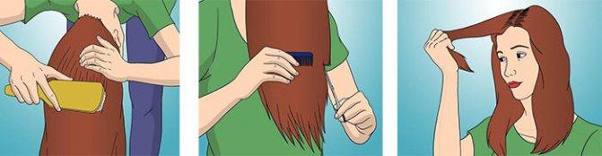 Как подстричь волосы головой вниз