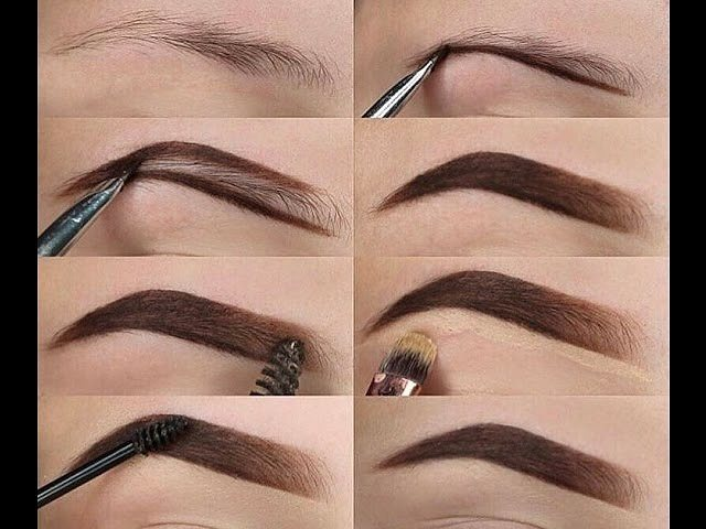 как подвести брови карандашом