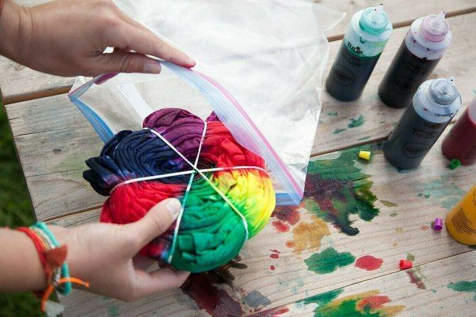 Как покрасить вещь в технике тай-дай: 6 мастер-классов