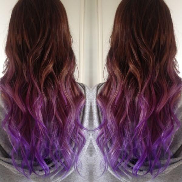 Как покрасить волосы в фиолетовый цвет