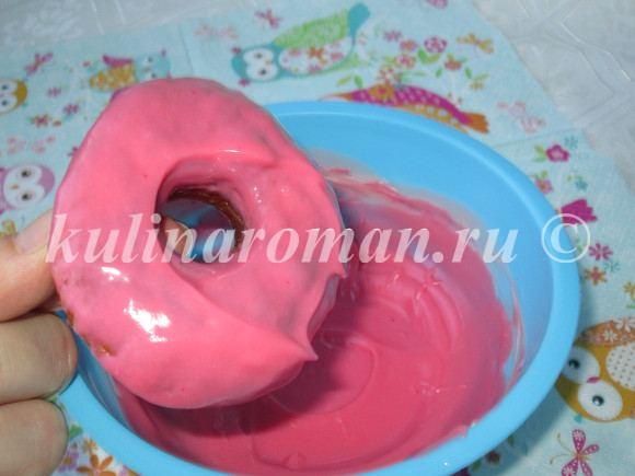 как покрыть пончик глазурью