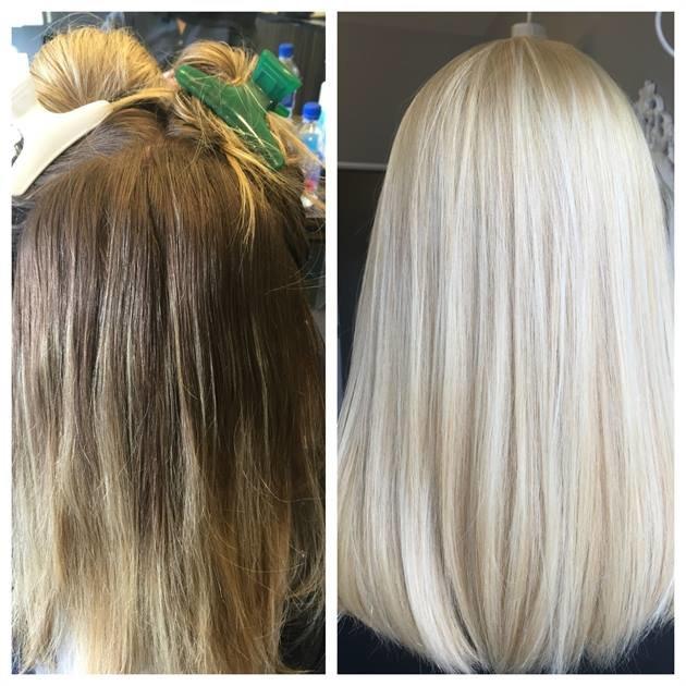как осветлить крашеные волосы дома фото клубе работает свой