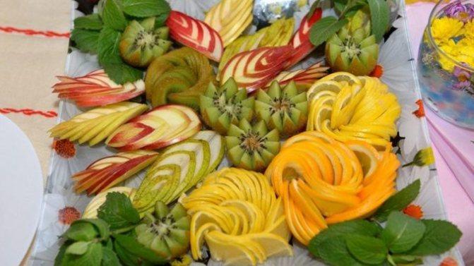 Как правильно подавать на стол фрукты? C чего начинается карвинг?