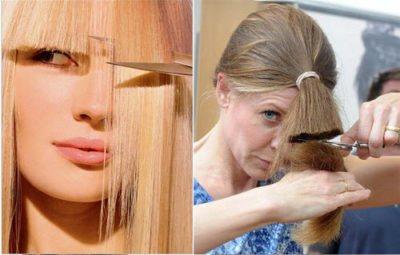 как правильно подравнять волосы