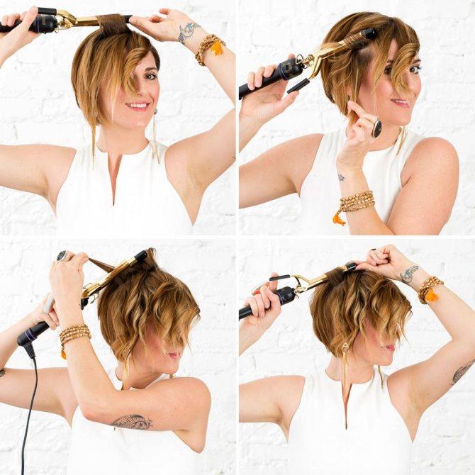 как правильно завивать длинные волосы плойкой
