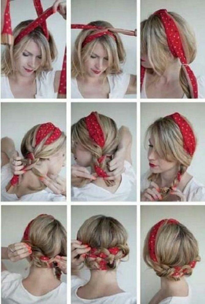 Как правильно завязывать бандану на голову мужчине и женщине