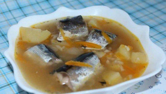 Как приготовить суп из консервированной сайры в мультиварке