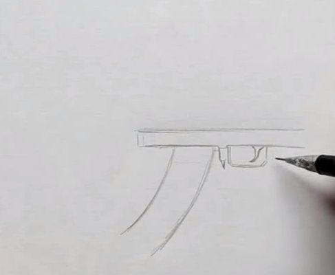 как рисовать оружие из cs go поэтапно