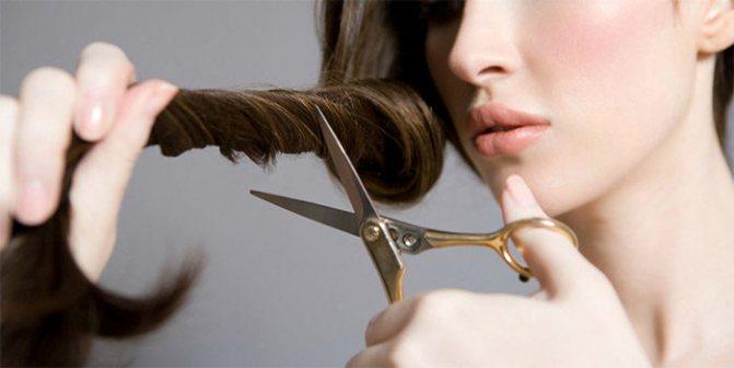 Как ровно подстричь кончики волос