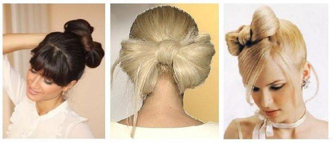 Как сделать эффектный бант из волос своими руками