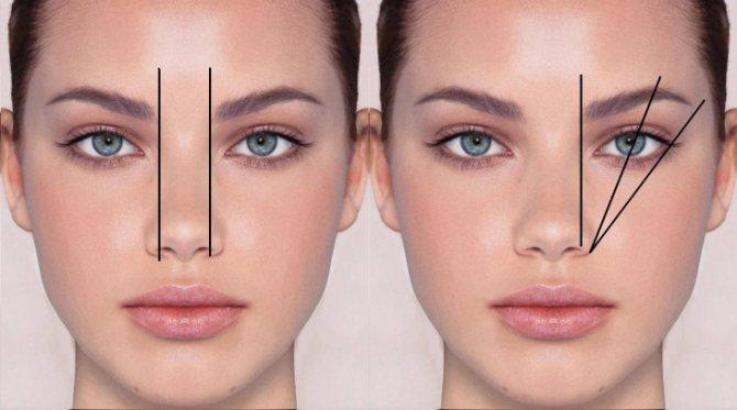как сделать красивые брови схема