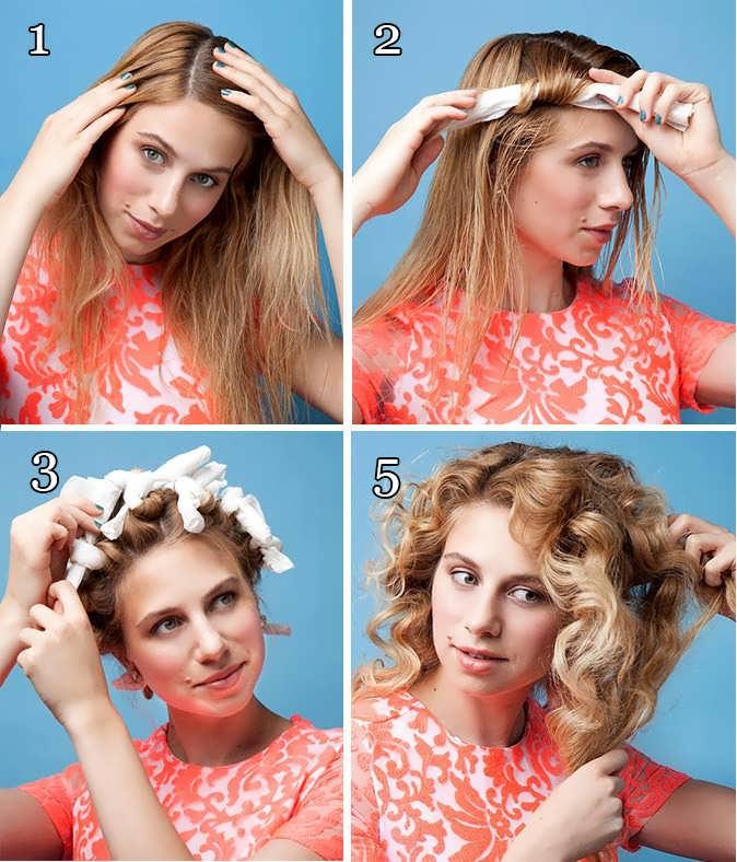 Как сделать кудри без плойки и бигуди за 5 минут на короткие, средние, длинные волосы без вреда для волос