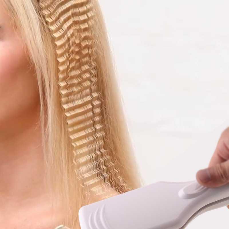 Как сделать ломаные локоны утюжком