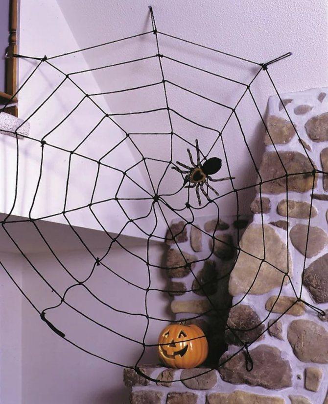 как сделать паутину своими руками