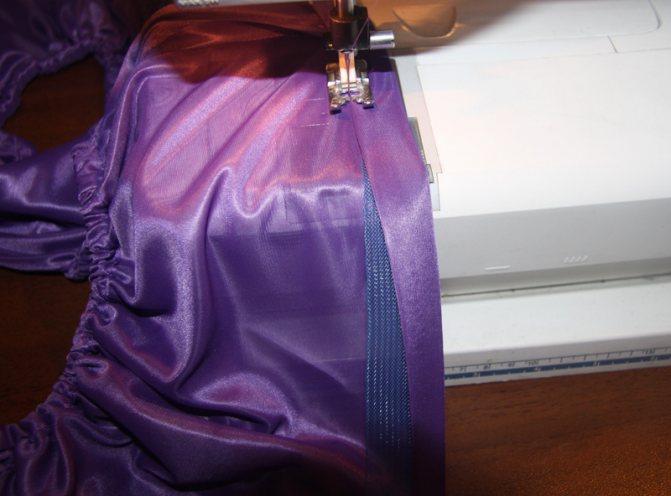 Как сделать пышным низ юбки с помощью регилина