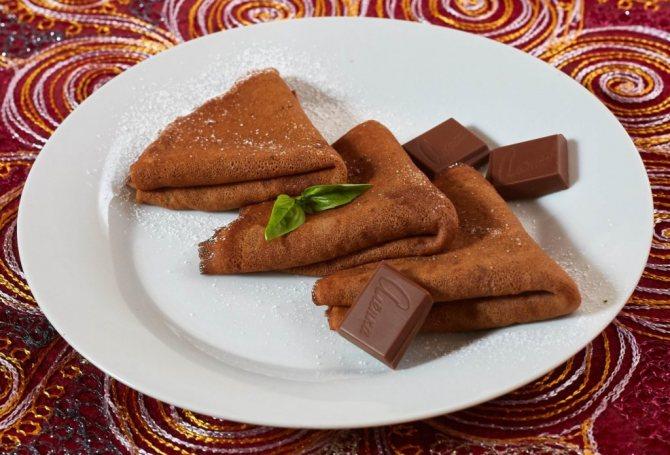 как сделать шоколадные блинчики