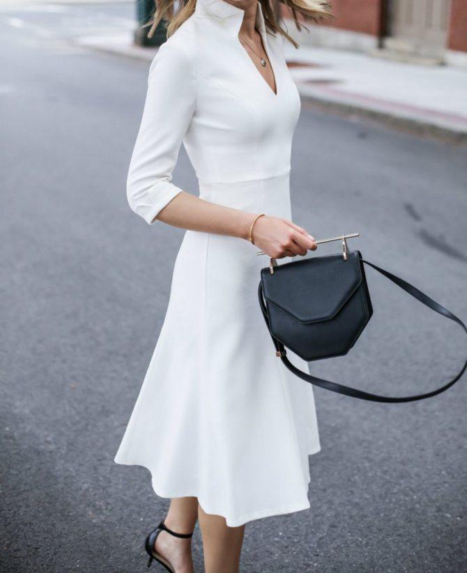 Как составить базовый гардероб, 7 простых шагов. Белое платье.