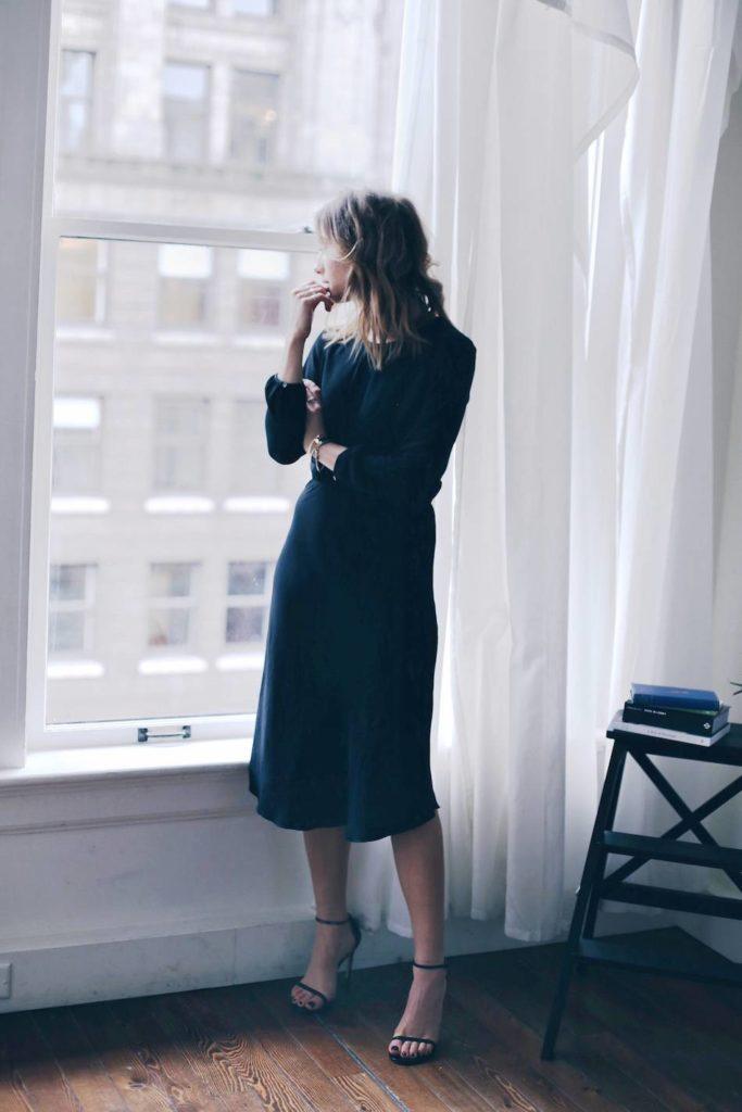 Как составить базовый гардероб, 7 простых шагов. Черное платье.