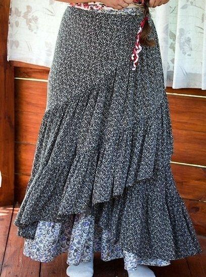 Как сшить юбку в церковь, храм на завязках: модели, фото