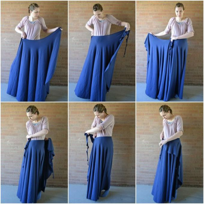 Как сшить юбку в церковь, храм поверх брюк?