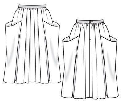 Как сшить юбку в церковь, храм с карманами: фото