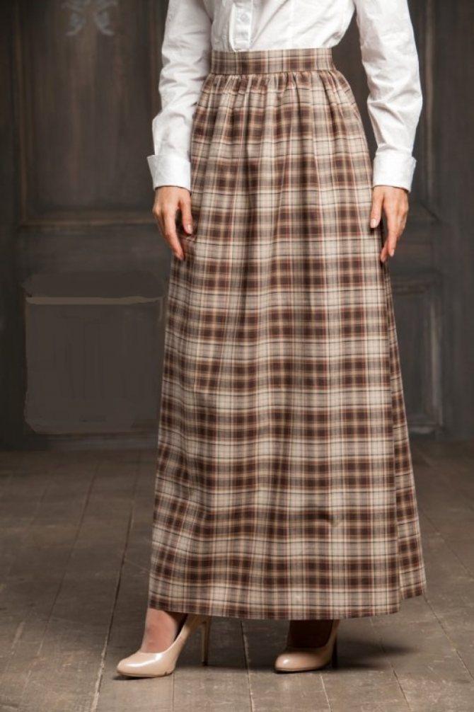 Как сшить юбку в церковь, храм с запахом: модели