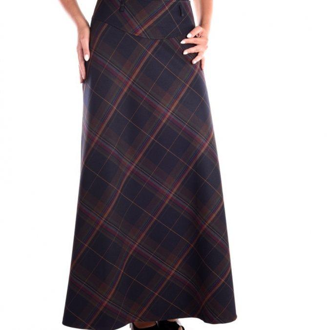 Как сшить юбку в церковь, храм своими руками поверх брюк?