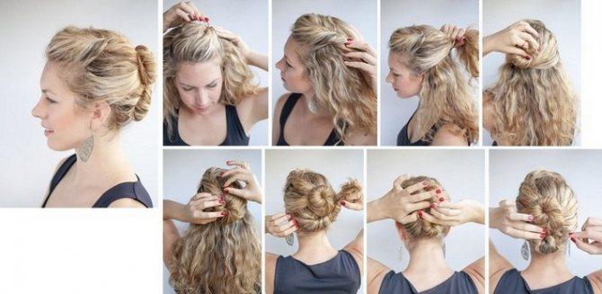 Как уложить вьющиеся волосы