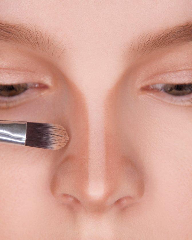 Как уменьшить нос в профиль