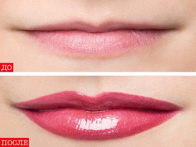 Как увеличить губы с помощью помады 2