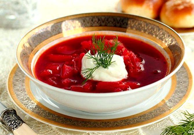 Как варить борщ со свеклой чтобы он был красный пошаговый рецепт Очень мелко нарезается чеснок