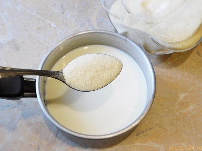 Как варить манку на молоке