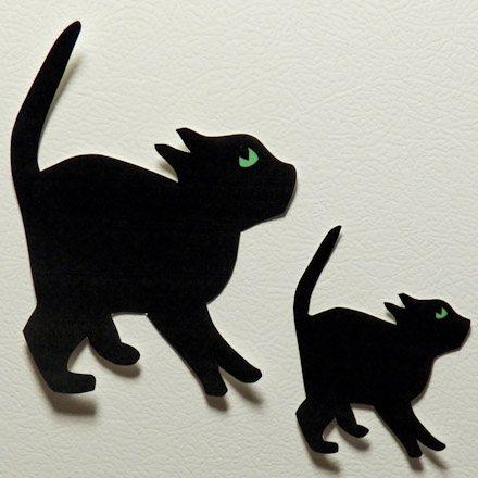 как вырезать силуэт кота на хэллоуин