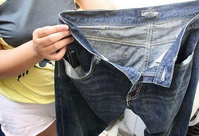 как закрепить цвет джинсов