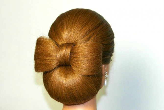 Как заплести бантик из волос (поэтапно)