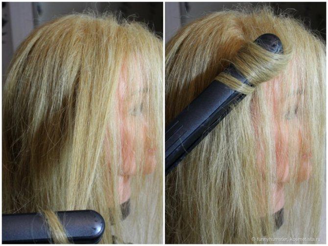 Как завить волосы при помощи утюжка