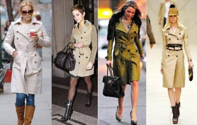 Какие бывают женские демисезонные пальто - Тренчкот - Модные рекомендации