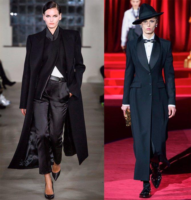 Какие черные пальто в моде зимой 2019-2020