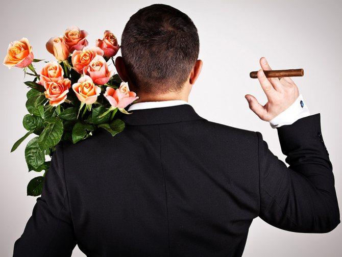 Какие цветы дарят мужчинам?