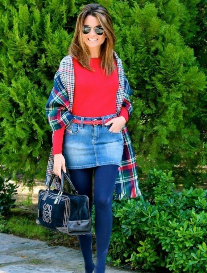 Какие колготки подобрать к джинсовой юбке, чтобы не выглядеть простушкой