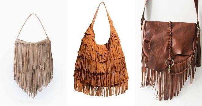 Какие сумки сейчас в моде бахрома