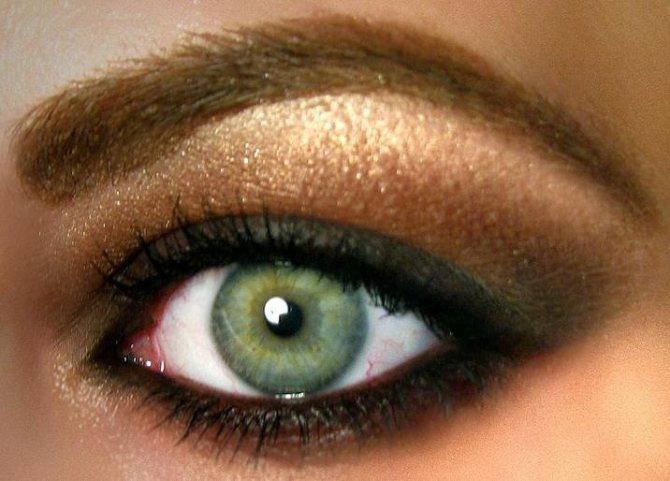 какие тени подходят блондинкам с зелеными глазами фото