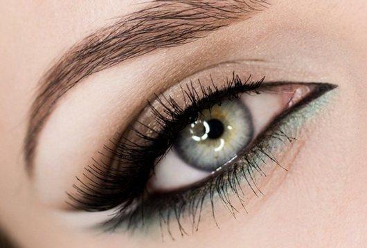 какие тени подходят под серо зеленые глаза фото