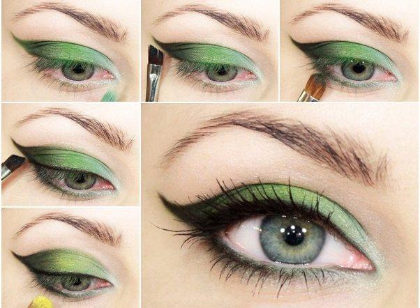 Какие тени подойдут зелено-голубым глазам фото