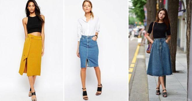 Какие юбки сейчас в моде идеи