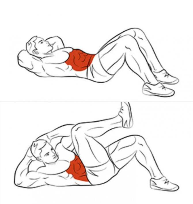 Какими упражнениями убрать живот мужчине